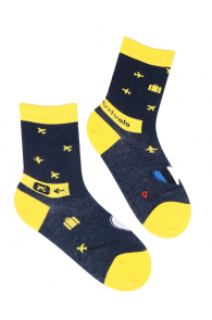 ARRIVALS travel-themed cotton socks | Sokisahtel