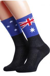 Хлопковые носки для женщин и мужчин с австралийским флагом AUSTRALIA | Sokisahtel