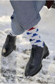 Мужские хлопковые носки серого цвета со шляпами KAABUD | Sokisahtel