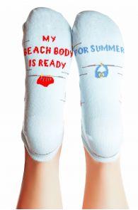 Женские хлопковые носки голубого цвета BEACH BODY | Sokisahtel