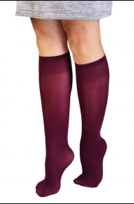 CADRI bordeaux knee highs for women | Sokisahtel
