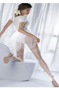 Свадебные колготки белого цвета CHARME | Sokisahtel