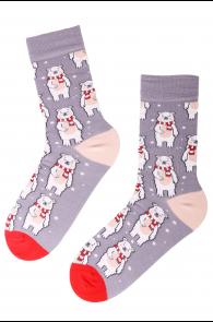 CHRISTMAS BEAR cotton socks with bears   Sokisahtel
