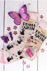 Комплект из хлопковых носков и светоотражателя DRAMA QUEEN | Sokisahtel