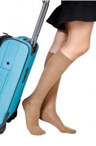 ECOCARE 70DEN natural travel knee-highs | Sokisahtel