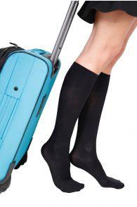 ECOCARE 70DEN black travel knee-highs | Sokisahtel