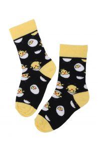Детские хлопковые носки с рисунком в виде милых цыплят EGG CHICK (Цыпленок) | Sokisahtel
