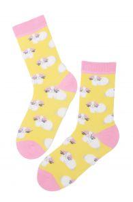Хлопковые пасхальные носки с милыми зайчиками для женщин EGGBUNNY (Пасхальный заяц) | Sokisahtel