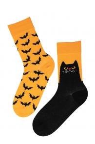 EVIL CAT halloween socks with cats | Sokisahtel