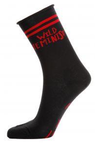 Женские хлопковые носки черного цвета FEMINIST   Sokisahtel
