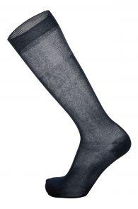 FILO dark blue fine cotton knee highs for men | Sokisahtel