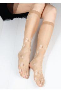 FLORA 20 DEN women's beige knee-highs | Sokisahtel
