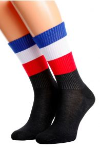 Хлопковые носки для женщин и мужчин с французским флагом FRANCE | Sokisahtel