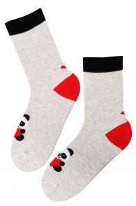 FRIENDSHIP grey Valentine's Day cotton socks | Sokisahtel