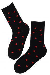 FRIENDSHIP black Valentine's Day cotton socks | Sokisahtel