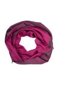 Шаль двусторонняя в оттенках фиолетового цвета из смеси шелка и шерсти альпака ALPACA | Sokisahtel