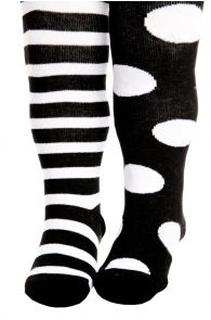 FUNNY DOTS mustad puuvillased sukkpüksid beebidele | Sokisahtel