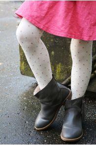 GAIA creamy white tights for kids | Sokisahtel