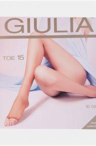 Женские тонкие колготки телесного цвета с открытой пальцевой частью GIULIA 15DEN | Sokisahtel