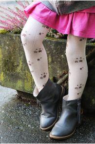 GRETA white tights for kids | Sokisahtel