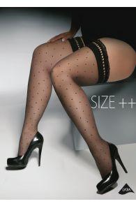GWENN Size++ 15DEN mustad sukad naistele | Sokisahtel