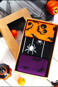 Halloween gift box FLYING BAT with 3 pairs | Sokisahtel