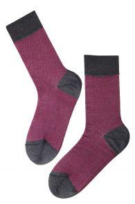 Мужские стильные хлопковые носки темно-розового цвета HERBERT | Sokisahtel