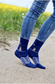 TUULIK sinised puuvillased sokid naistele | Sokisahtel