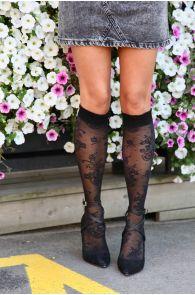RIINA 20 DEN black knee highs for women | Sokisahtel