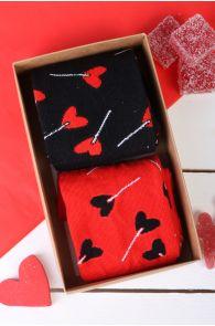 Подарочный набор из 2 пар ярких и запоминающихся носков для мужчин и женщин CANDY | Sokisahtel