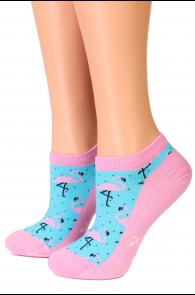 Женские укороченные хлопковые носки голубого цвета PERFECT | Sokisahtel