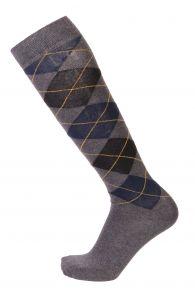 JANEK grey cotton knee-highs for men | Sokisahtel