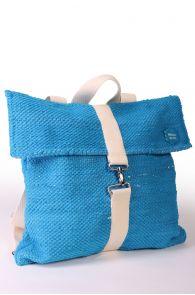 Рюкзак синего цвета из футболок с символикой певческого праздника 42х40 см | Sokisahtel