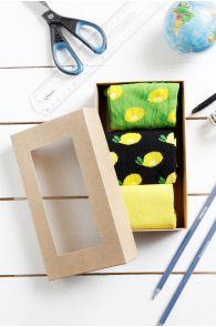 LEMON TREE gift box for men 3 pairs of socks | Sokisahtel