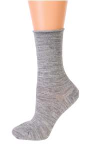 Женские теплые шерстяные носки серого цвета MADLI   Sokisahtel