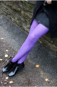 Женские колготки лилового цвета из мериносовой шерсти MILANA | Sokisahtel