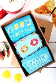 GOOD MORNING kinkekarp 3 sokipaariga hommikuinimesele | Sokisahtel
