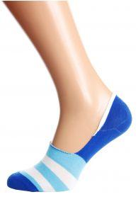 Хлопковые носки-следки синего цвета NEWTON   Sokisahtel