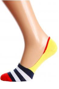 Хлопковые носки-следки желтого цвета NEWTON   Sokisahtel