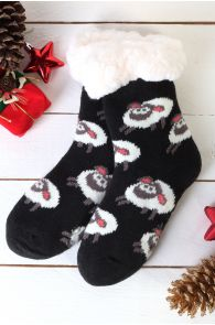 NIILO cute black anti-slip home socks for kids | Sokisahtel