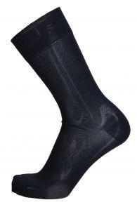 OLIVER dark blue dress socks with red stripe for men | Sokisahtel