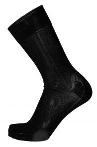 OLIVER black dress socks with purple stripe for men | Sokisahtel