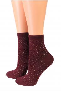 Oroblu POWDER bordeaux red socks | Sokisahtel