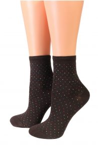 Oroblu POWDER brown socks | Sokisahtel