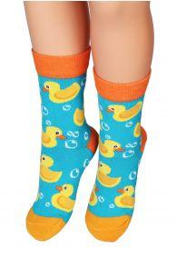 PARDIRALLI blue and orange cotton socks for children | Sokisahtel