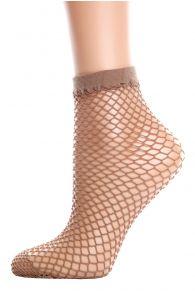 Женские сетчатые носки коричневого цвета Pierre Mantoux NASSA | Sokisahtel