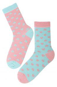 POWDER cotton socks with hearts | Sokisahtel