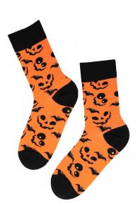 PUMPKIN FACE halloween socks with pumpkins | Sokisahtel