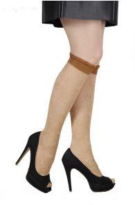 RIINA 20 DEN beige knee highs for women | Sokisahtel