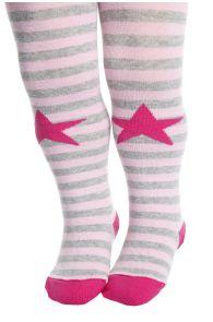 ROANNA roosad triibulised sukkpüksid beebidele | Sokisahtel
